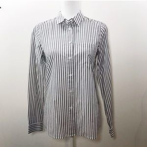 Madewell Boyfriend Button Down Stripe Shirt  Small